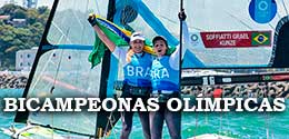 49er FX BRA Bicampeonas Olimpicas