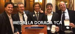 MEDALLA DORADA YCA