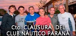 CLAUSURA DEL CLUB NAUTICO PARANA